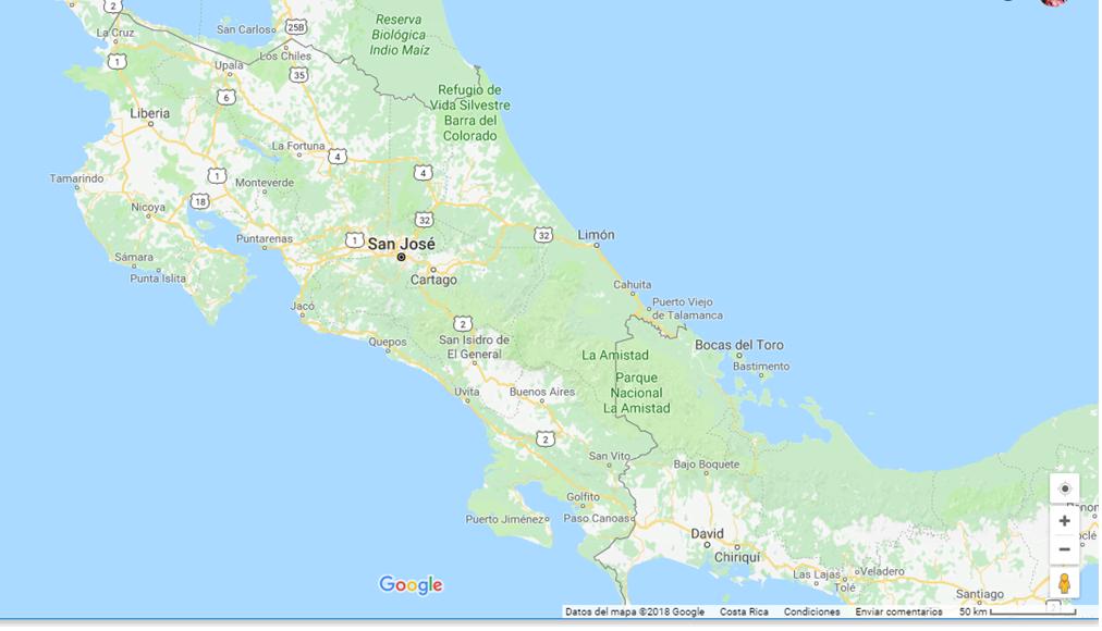 Mapa De Costa Rica.Mapa De Costa Rica Travel Costa Rica